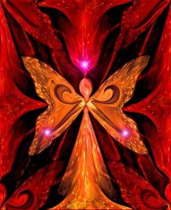 chakra art red wall decor